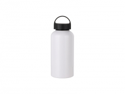 Sublimation 500ml Aluminium Water Bottle W/handle (White)