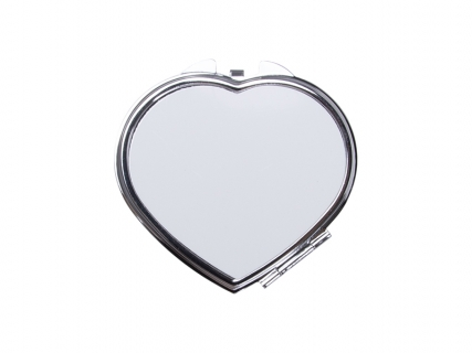 Sublimation Heart Shaped Compact Mirror( 6.5*5.9cm)