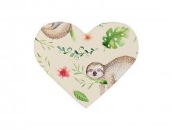 9*11cm Heart Ceramic Coaster w/ Cork (Frosted)
