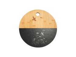 Bamboo with Slate Cutting Board (Round, φ30cm)