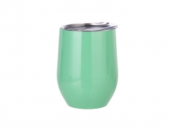 12oz Stainless Steel Stemless Wine Cup (Light Green)