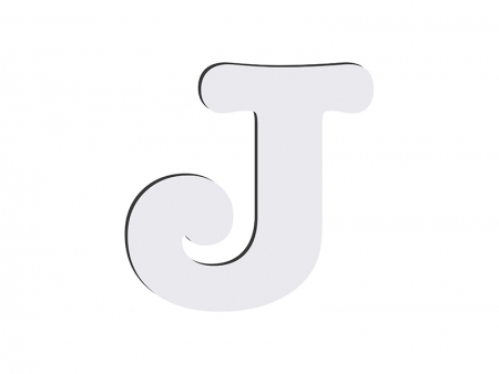 Sublimation HB Letters -J (10*10cm)