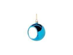 6cm Plastic Christmas Ball Ornament (Light blue)