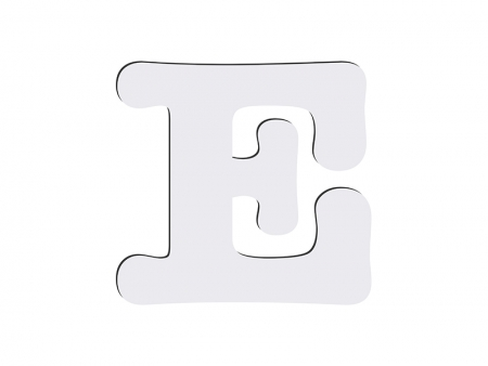 Sublimation HB Letters -E (10*10cm)