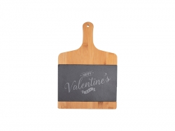 Bamboo with Slate Cutting Board w/ Handle (Rect, 24.2*35cm)