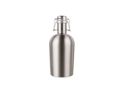 64oz/2000ml Sublimation Growler (Silver)