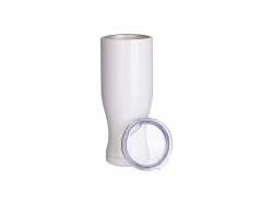 25oz/750ml Sublimation Stainless Steel Pilsner Style Tumbler (White)