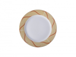 "10"" Plate w/ Golden Pattern"