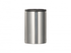 11oz/330ml Sublimation Stainless Steel Skinny Can Cooler (Silver)