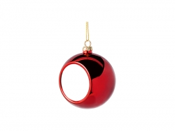 8cm Plastic Christmas Ball Ornament (Red)