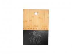 Bamboo with Slate Cutting Board (Rect, 25*35cm)