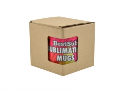 11oz Brown Cardboard Inner Box with Window
