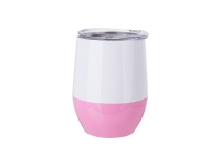 12oz/360ml Stainless Steel Stemless Wine Cup (White&Pink)