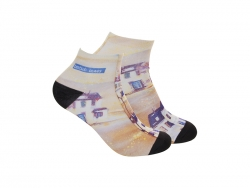 22cm Women Sublimation Socks