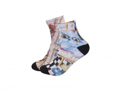 25cm Men Sublimation Anklets Socks