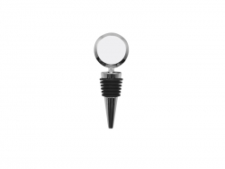 Wine Bottle Stopper (Metal, Round)