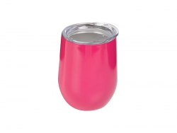 12oz Stainless Steel Stemless Wine Cup (Rose Red)