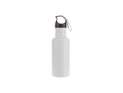 Sublimation 600ml Aluminium Water Bottle (White)