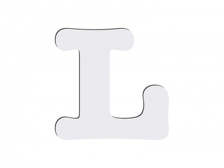 Sublimation HB Letters -L (10*10cm)
