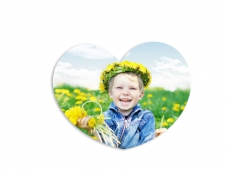 Sublimation Fridge Magnet-Heart (9.5cm)