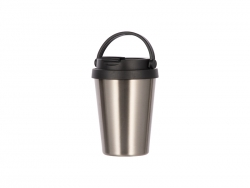 12oz/350ml Sublimation Stainless Steel Tumbler Coffee Mug (Silver)